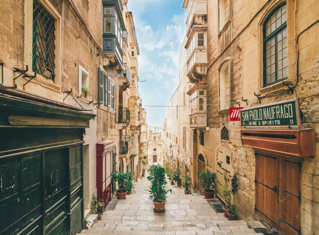 street of valletta in malta 2